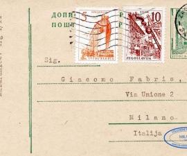 Cartolina Postale Jugoslavia